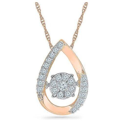 ЛУКАС Подвеска Капля с 23 бриллиантами из красного золота P01-D-PF126263-R17