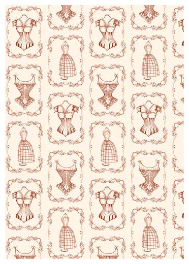 Ткань PePPY ВЕК МОДЫ для пэчворка панель фасовка 60 x 110 см 146±5 г/кв.м корсеты