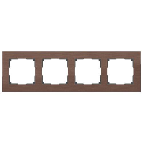 Рамка 4п Werkel WL11-Frame-04, коричневый алюминий рамка werkel aluminium алюминий коричневый wl11 frame 05