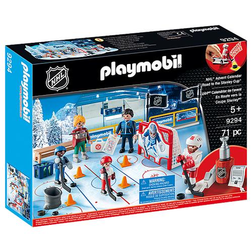 Купить Набор с элементами конструктора Playmobil NHL 9294 Адвент-календарь Дорога к кубку, Конструкторы