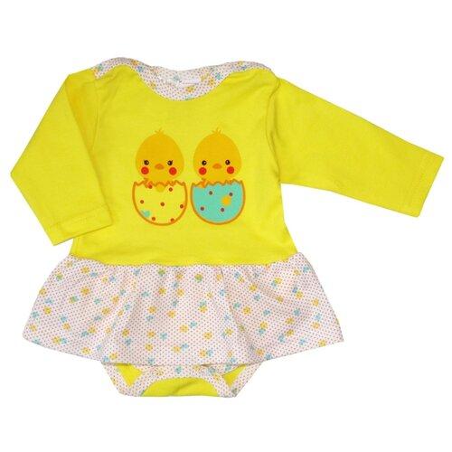 Платье-боди KotMarKot размер 68, желтый
