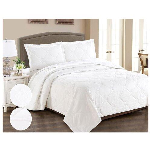 Комплект с покрывалом Cleo Runa 240х260 см, белый комплект с покрывалом cleo gabriella 240х260 см бежево зеленый