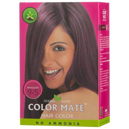 Хна Color Mate травяная краска для волос, тон 9.5 mahogany, 75 г краска для волос хна купить