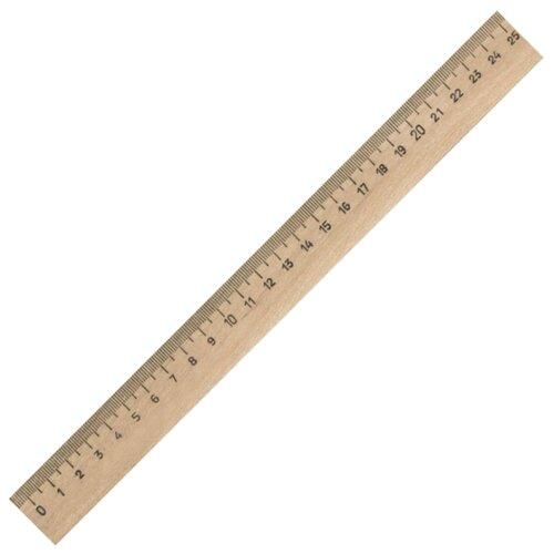 Купить Пифагор Линейка деревянная 25 см (210668) коричневый, Чертежные инструменты