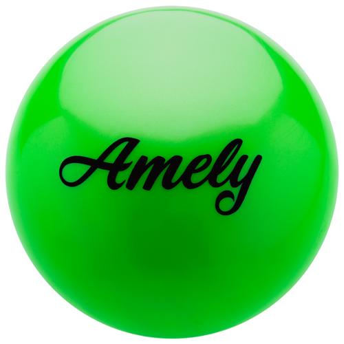 Мяч для художественной гимнастики Amely AGB-101 19 см зеленый