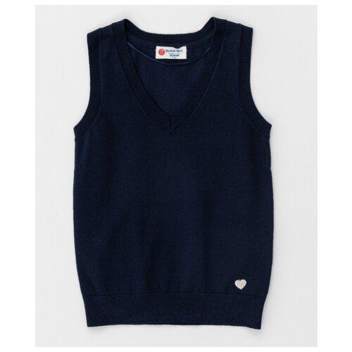 Жилет Button Blue размер 158, синий жилет утепленный для девочки button blue цвет салатовый 118bbgc47012700 размер 158