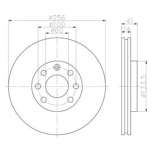 цена на Тормозной диск передний Valeo R3003 256x24 для Daewoo Nexia, Chevrolet Lanos