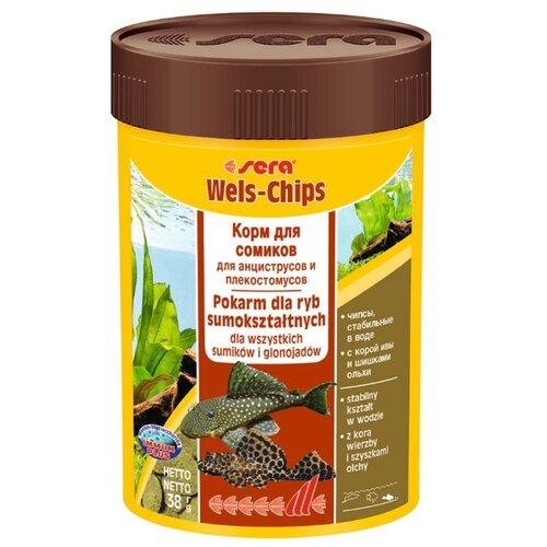 Сухой корм для рыб Sera Wels Chips 100 мл 38 г sera sera fd mixpur корм для рыб сублимированный мотыль трубочник дафния криль 100 мл