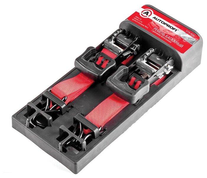 Стяжной ремень с храповым механизмом AUTOPROFI STR-900 0.9 т (комплект 2 шт.)
