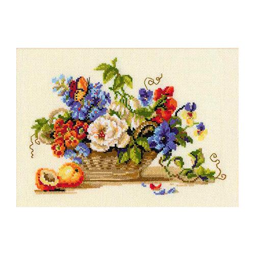 Купить Риолис Набор для вышивания Натюрморт с персиком 30 х 24 см (864), Наборы для вышивания