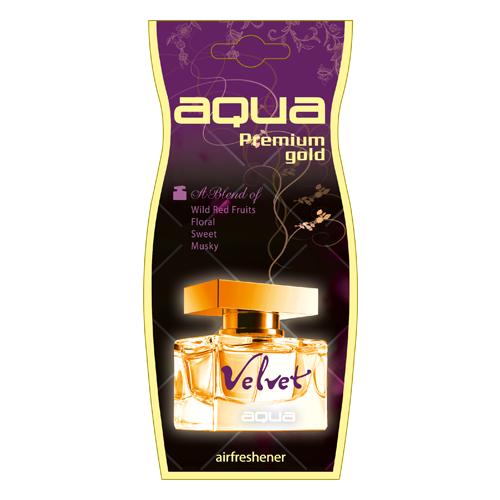 Aqua Ароматизатор для автомобиля Premium Gold Drop Velvet 12 г