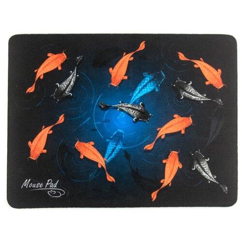 Коврик Dialog PM-H17 Fish черный/голубой/серый/оранжевый