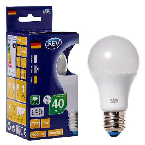 Фото - Лампа светодиодная REV 32345 7, E27, A55, 5Вт лампа светодиодная led e27 8 5вт 220v 2700к rev