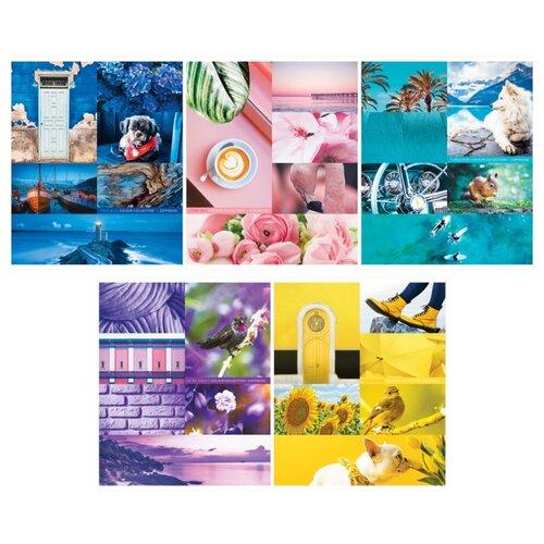 Купить ArtSpace Упаковка тетрадей Стиль. Colourful collage Т96к_26725, 5 шт., клетка, 96 л., Тетради