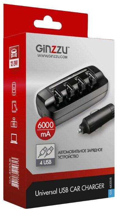 Автомобильная зарядка Ginzzu GA-4430UB
