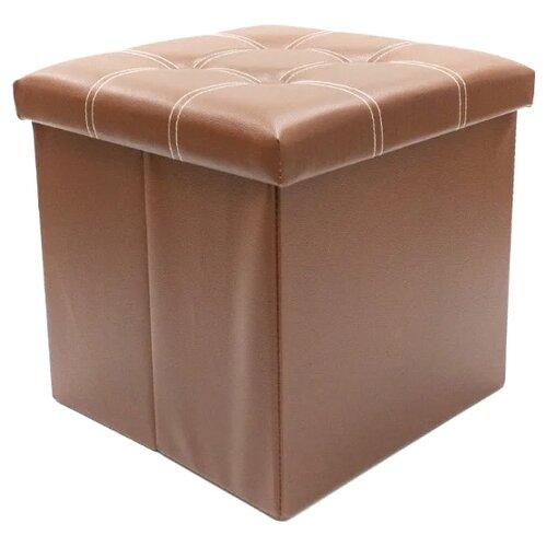 Пуфик с ящиком для хранения Удачная покупка RYP56-38 искусственная кожа коричневый пуфик с ящиком для хранения тематика складной рогожка коричневый