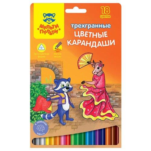 Купить Мульти-Пульти Карандаши цветные Енот в Испании 18 цветов (CP_10756), Цветные карандаши