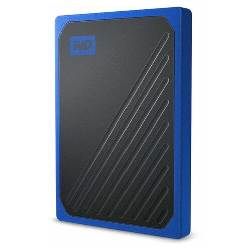 Фото - Внешний SSD Western Digital My Passport Go 1 ТБ blue western digital wdblhr0020bbl eeue my passport 2 5 синий