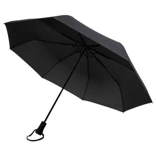 Зонт-трость механика Stride Hogg Trek черный зонт трость для коляски magic rain механика цвет розовый металлик 11919 1