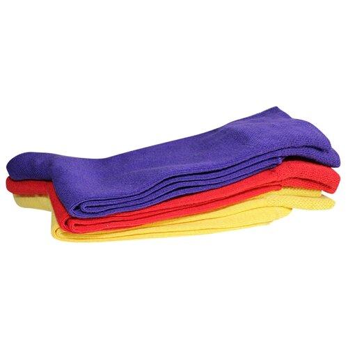 Носки Dzen DS-10, 3 пары, размер 25-27, синий/красный/желтый