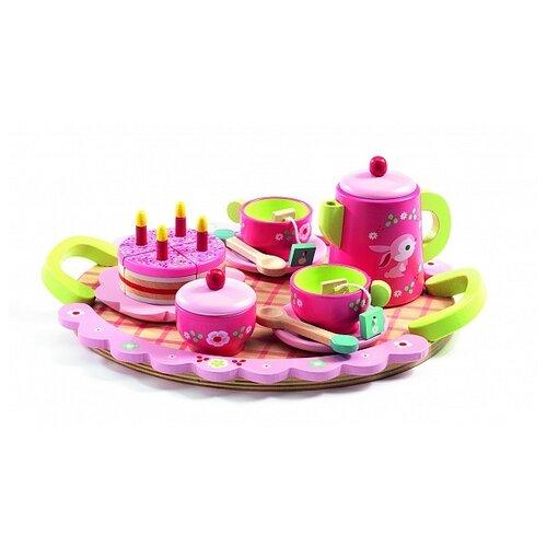Набор продуктов с посудой DJECO Чайная вечеринка Лили 06639 разноцветный