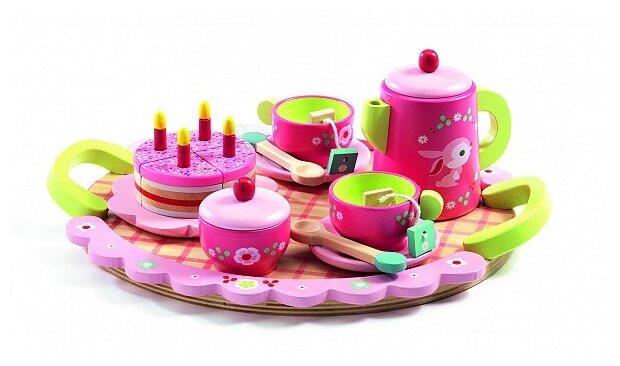 Набор продуктов с посудой DJECO Чайная вечеринка Лили 06639