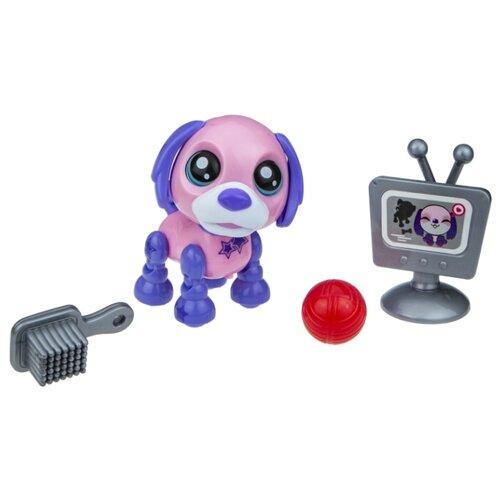 Фото - Робот 1 TOY Robo Pets Озорной щенок Т16936 розовый/фиолетовый игрушка интерактивная 1toy robo pets робо щенок розовый
