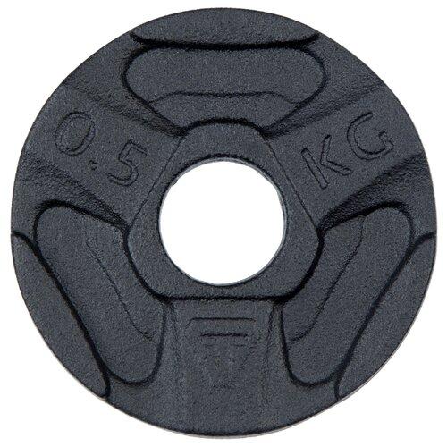 Диск Torneo стальной 0.5 кг (1050-5) черный