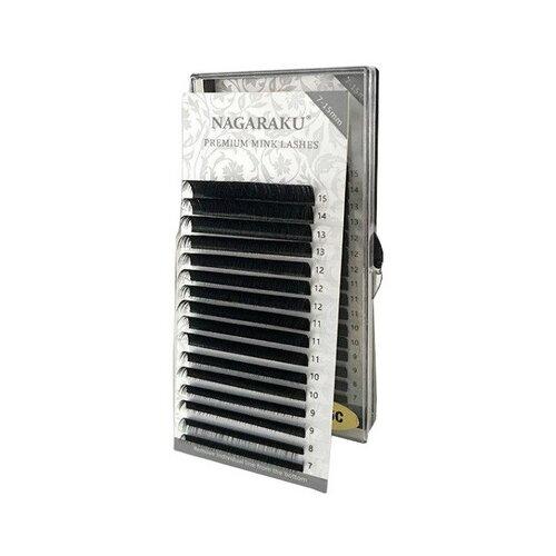 Купить NAGARAKU Ресницы на ленте Premium Mink 7-15 мм D-изгиб 0.10 мм черный