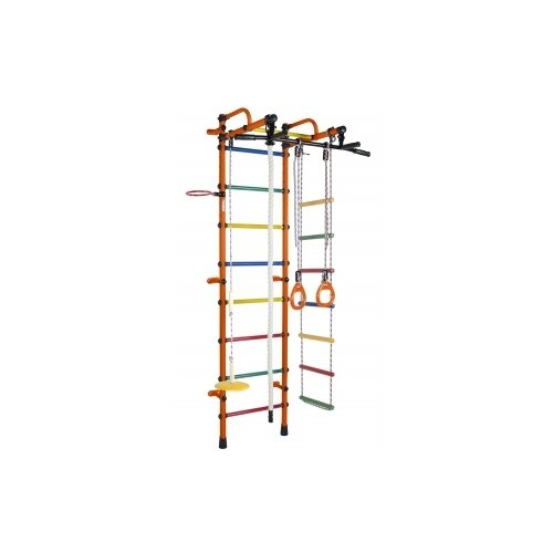 Купить Шведская стенка Формула здоровья Лира оранжевый/радуга, Игровые и спортивные комплексы и горки