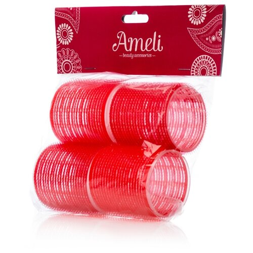 Бигуди-липучки Ameli 3036189 (60 мм) 4 шт. красный