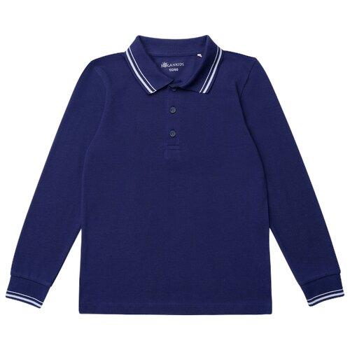 Купить Поло Kogankids размер 128, темно-синий, Футболки и майки