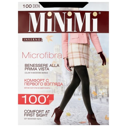 Колготки MiNiMi Microfibra 100 den, размер 4-L, nero (черный) колготки minimi lanacotone 180 den размер 4 l nero черный