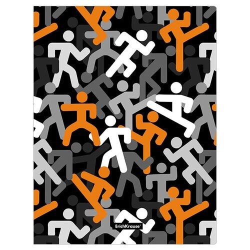 Фото - ErichKrause Папка файловая с 30 карманами Walkers A4, 4 штуки черный/оранжевый erichkrause папка файловая с 40 карманами на спирали metallic а4 разноцветный