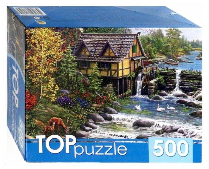 Пазл Рыжий кот TOP puzzle Водяная мельница (ХТП500-4229), 500 дет.