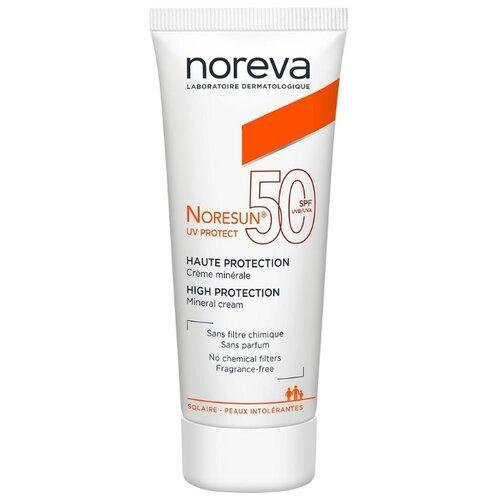Noreva laboratories крем Noresun UV Protect Mineral, SPF 50, 40 мл noreva норесан градуал крем с очень высокой степенью защиты spf50 40 мл noreva noresun