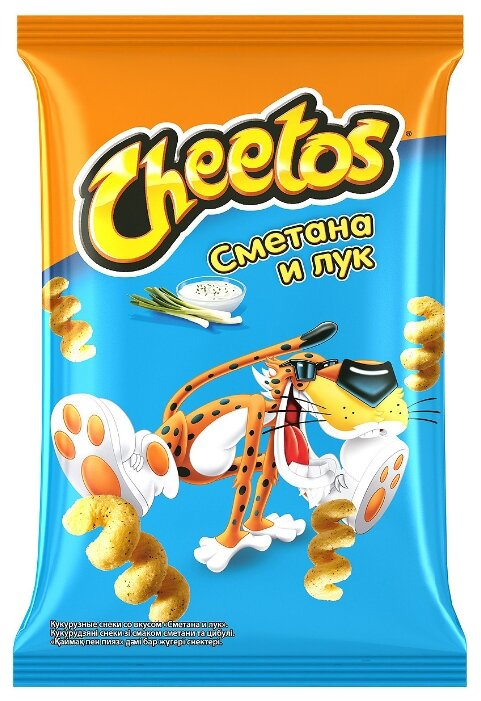 Кукурузные палочки Cheetos Сметана и лук 85 г