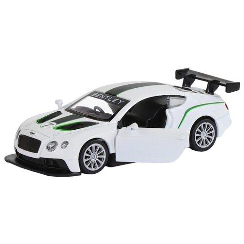 Купить Легковой автомобиль Автопанорама Bentley Continental GT3 (J12283/JB1200135) 1:43 11.5 см белый, Машинки и техника