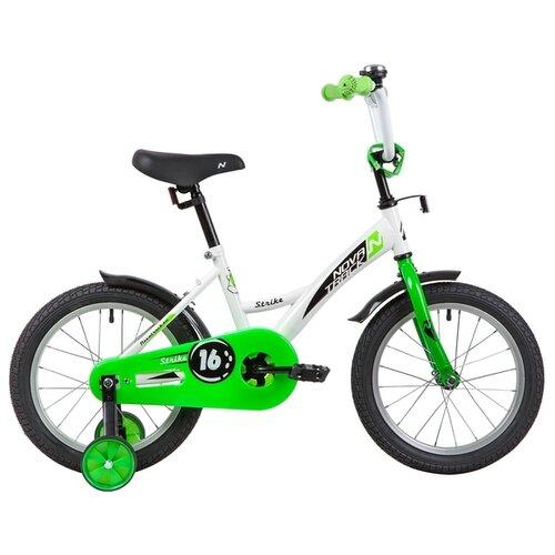 цена на Детский велосипед Novatrack Strike 16 (2020) белый/зеленый (требует финальной сборки)