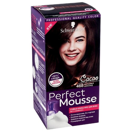 Schwarzkopf Perfect Mousse Стойкая краска-мусс для волос, 468, Морозный шоколад