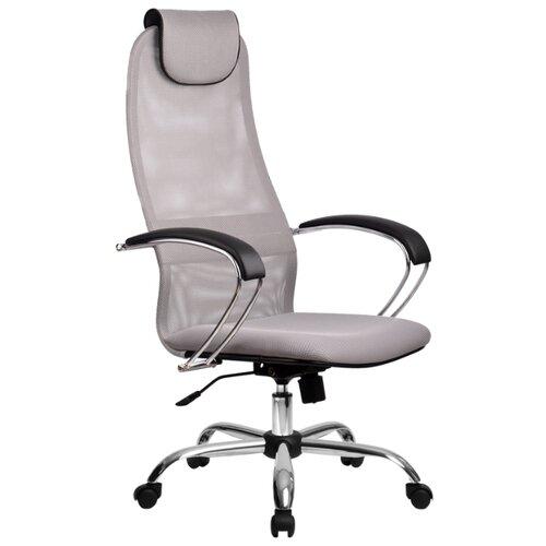 Компьютерное кресло Метта BK-8 Ch офисное, обивка: текстиль, цвет: 24-светло-серый компьютерное кресло метта bp 2 pl офисное обивка натуральная кожа цвет 721 черный