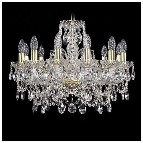 Люстра Bohemia Ivele Crystal 1411 1411/12/195/G, E14, 480 Вт bohemia ivele crystal подвесная люстра 1411 12 380 72 g