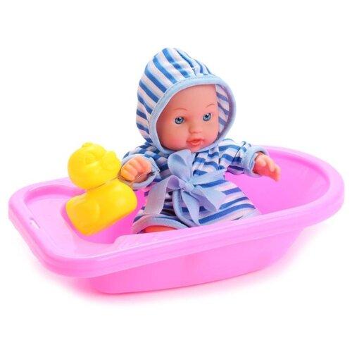 Купить Кукла Карапуз Пупс Мой малыш в ванночке 20 см 222-A-RU, Куклы и пупсы