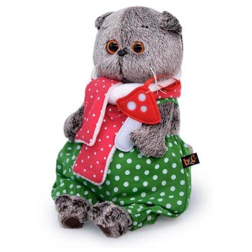 Купить Мягкая игрушка Basik&Co Кот Басик с мухомором 19 см, Мягкие игрушки