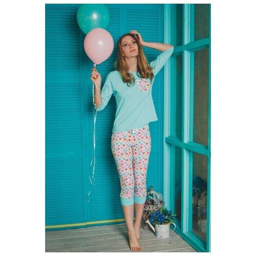 Пижама Evelena размер XS бирюзовый платье oodji ultra цвет красный белый 14001071 13 46148 4512s размер xs 42 170