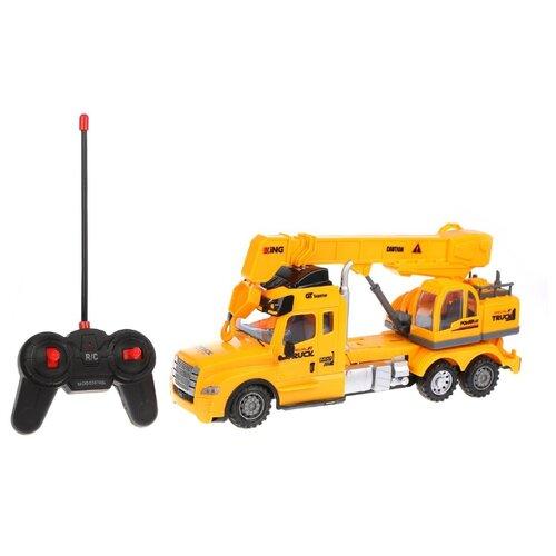 Фото - Автокран Наша игрушка 689A-4 35 см желтый товары для праздника наша игрушка вертушка цветочек с липестками 35 см