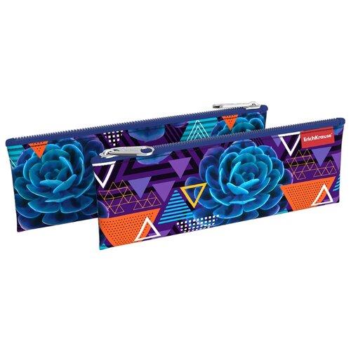 Купить ErichKrause Пенал-конверт Succulents (49006) фиолетовый, Пеналы