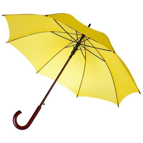 Зонт-трость полуавтомат Unit Standard (393) желтый зонт трость полуавтомат unit standard 393 серебристый