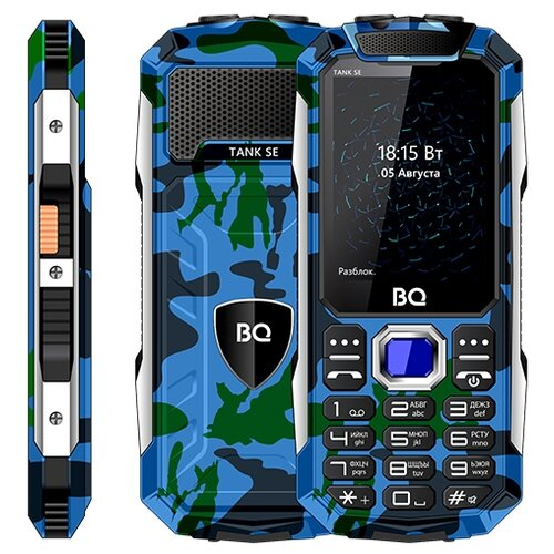 Телефон BQ 2432 Tank SE камуфляж телефон