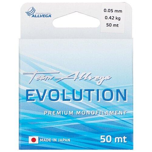 Монофильная леска ALLVEGA EVOLUTION прозрачный 0.05 мм 50 м 0.42 кг